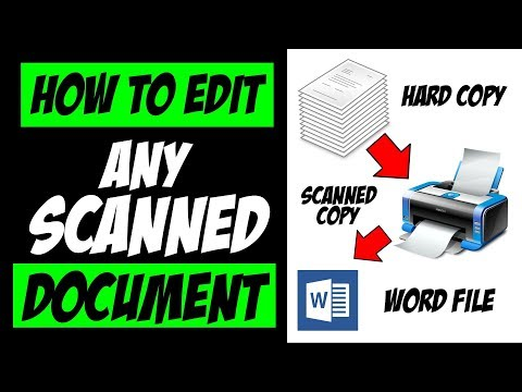 How To Edit Scanned Document In MS Word | Convert JPG/PDF To Word Without Any Software | [HINDI]
