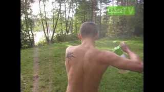 Dušas iš sodo purkštuvo/ Camping shower from garden sprayer