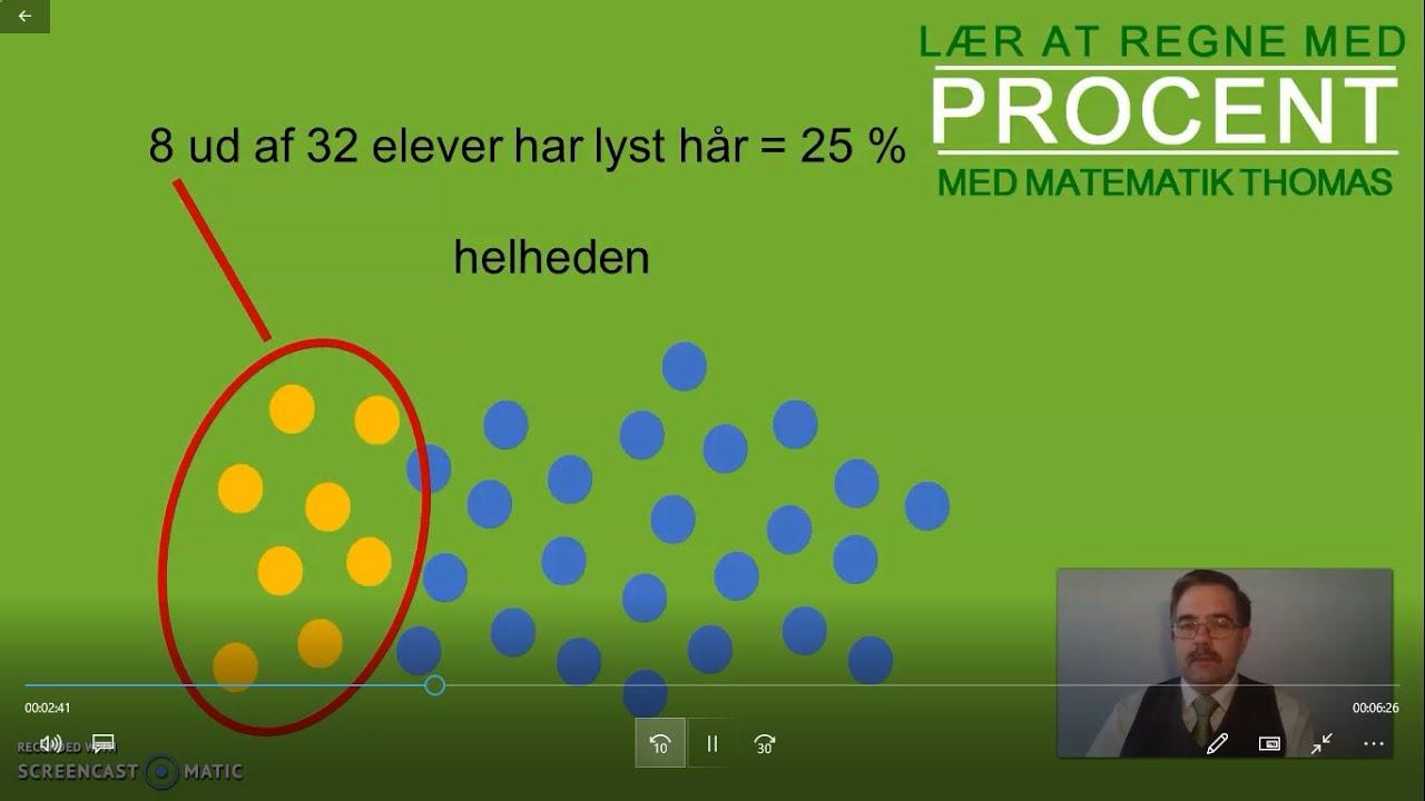 Lær at regne med procent (og promille)