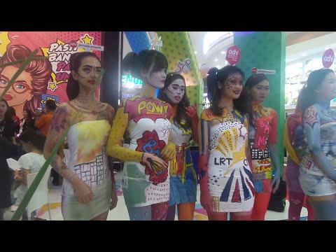Body Painting di Pameran Properti Jakarta Convention Center (JCC)