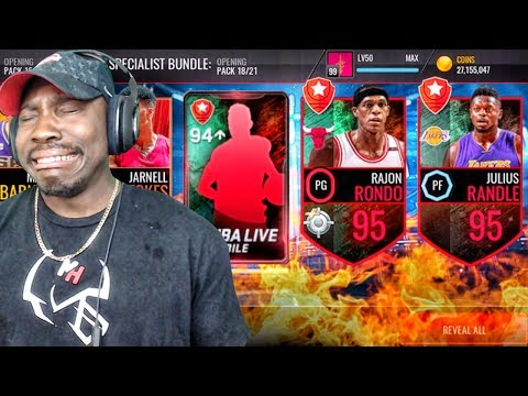 SPECIALIST PACK OPENING RAGE w/94 + OVR TOPPER! NBA Live Mobile Gameplay Ep. 142