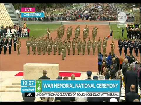 War Memorial National Ceremony Canberra(Anzac Day 2012) Highlights