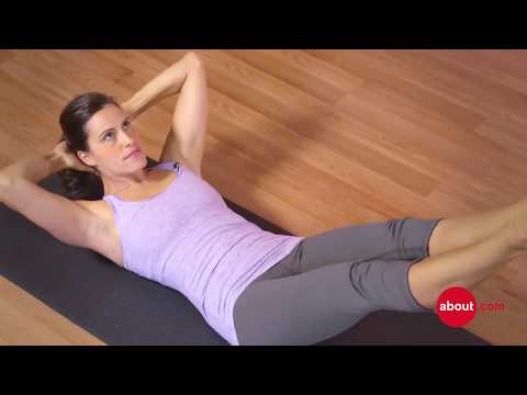 How to do double straight leg stretch