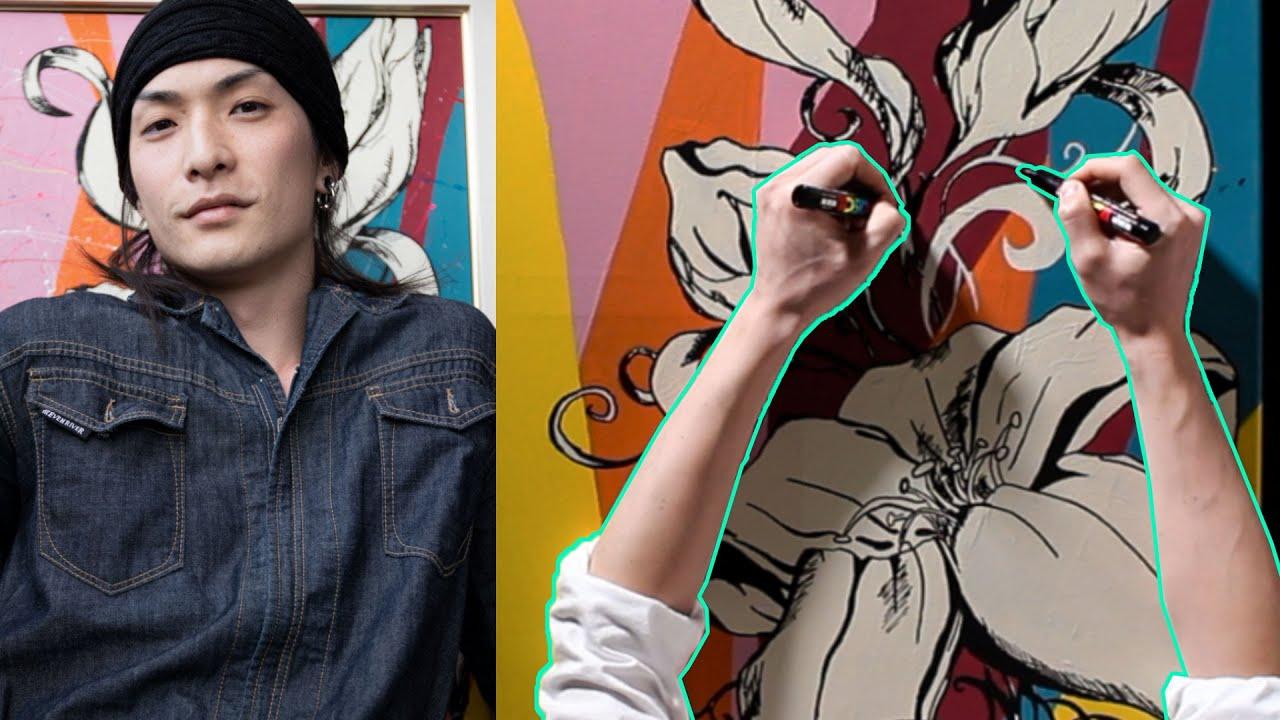 【両手で絵を描くシリーズ】Lily - Two handed drawing