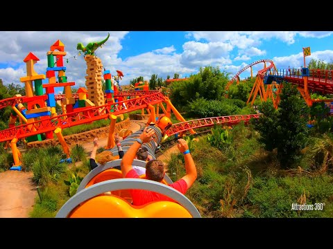 Toy Story Roller Coaster - Slinky Dog Dash - Disney World Resort