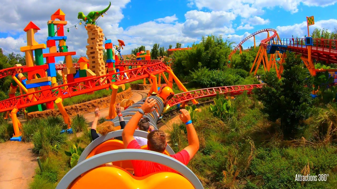 Toy Story Roller Coaster Slinky Dog Dash Disney World Resort Youtube