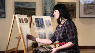 Уроки рисования. Смешанная техника (25.03.2016)