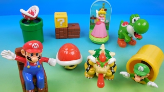 SUPER MARIO SET OF 8 McDONALDS 2017 HAPPY MEAL KIDS TOYS VIDEO REVIEW