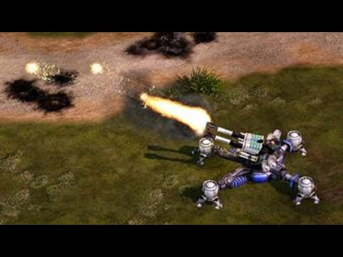 Command & Conquer Red Alert 3 Uprising skirmish vs 3 |