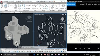 AutoCAD 3D Exercises / PressPull Command With Easy Steps / Mechanical Part Model #10