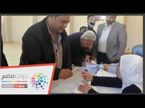 الفنان مراد مكرم يدلي بصوته فى التعديلات الدستورية بالزمالك  - 17:56-2019 / 4 / 22