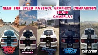 NFS Payback VS Forza Horizon 3 VS NFS Rivals VS The Crew VS NFS 2015 (Comparison)