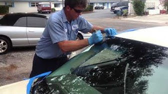 Part 2 how to replace windshield on a 2003 Cadillac Deville Set with the Rolladeck