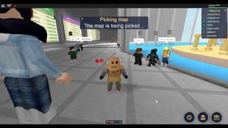 1st roblox game play/ disaster dome