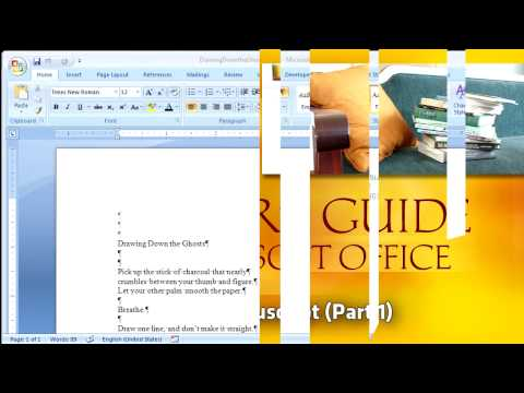 A Writer's Guide to Office: Create a Manuscript (Part 1)