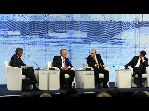 Discussion at the plenary session of St Petersburg International Economic Forum