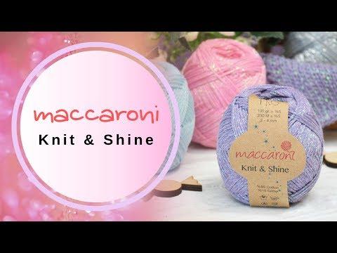 Maccaroni Knit & Shine / Книт Шайн. Трикотажная пряжа с люрексом. Обзор пряжи и отзыв + БОНУС