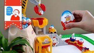 Kinder Frozen Surprise Eggs Disney Collector 2015 Little Tikes Car Toy Playset Unboxingsurpriseegg