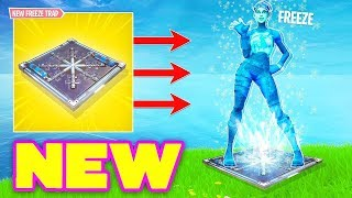The NEW CHILLER (FLOOR FREEZE TRAP) In Fortnite Battle Royale