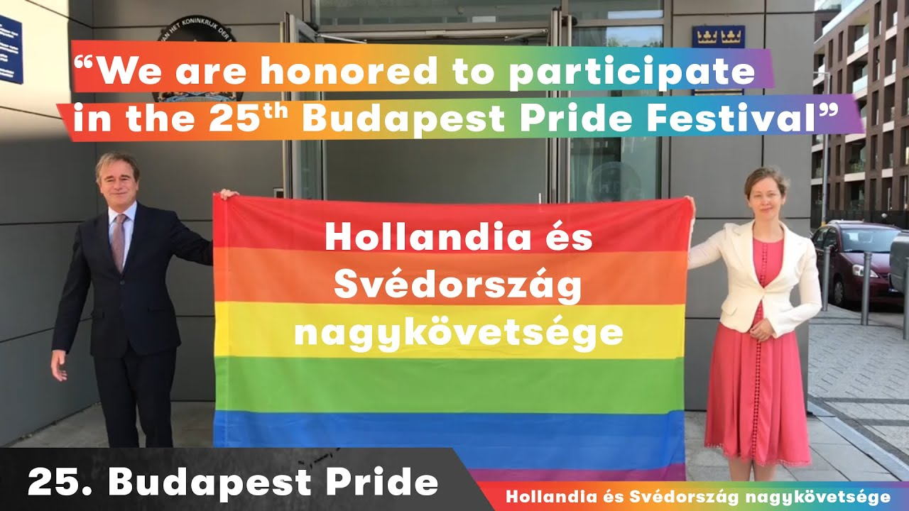 Embassies of the Netherlands and Sweden: message for the 25th Budapest Pride 2020 #budapestpride25