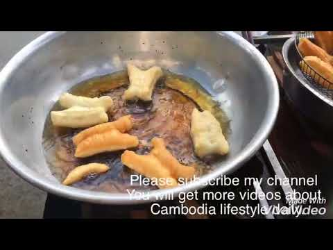 Cambodia daily lifestyle in Phnom Penh, How to make Caspian cake, Origial video