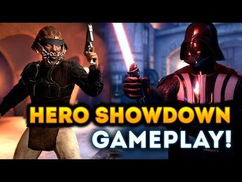 INTENSE HERO SHOWDOWN GAMEPLAY on Jabba's Palace! - Star Wars Battlefront 2 Han Solo DLC thumbnail