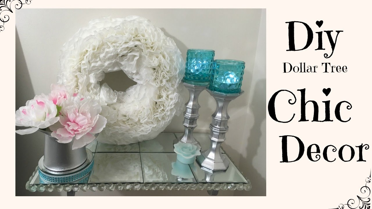 diy dollar tree chic home decor youtube