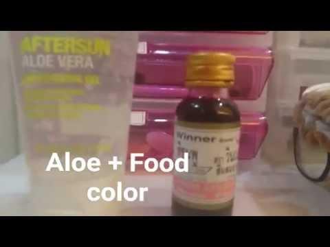 DIY Lip Stain - Food Coloring + Aloe vera