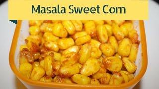 Masala Sweet Corn Snack Recipe - How To Make Masala Corn By Harshis Kitchen