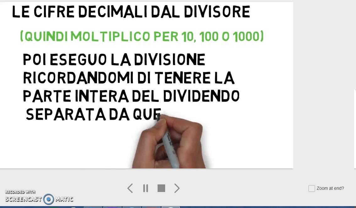 Divisioni Con Dividendo E Divisore Decimali Youtube