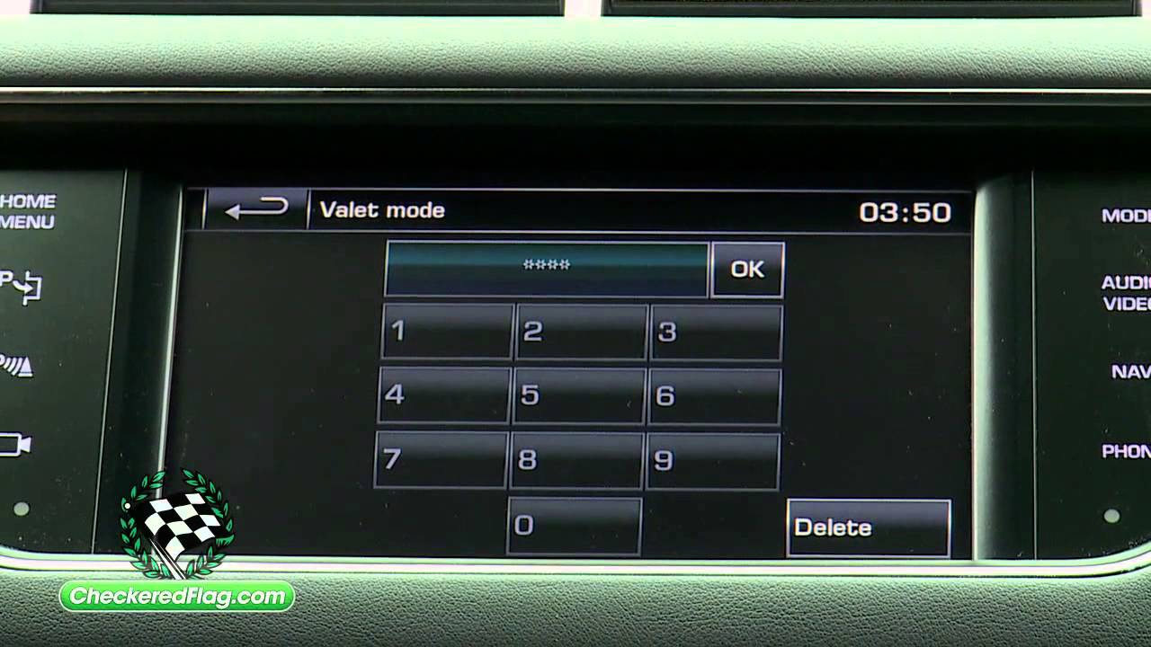 How to Use Valet Mode in Land Rover Range Rover Sport