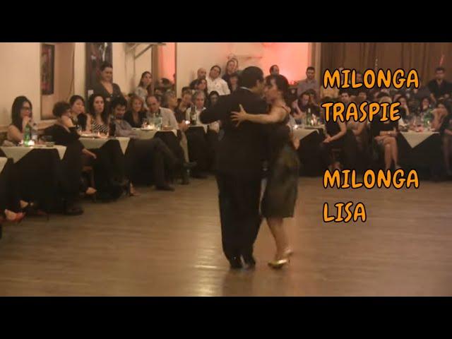 Como es #tango #milonga Traspie y lisa, Julio Maidán, Florencia Curatella.  #TangoBA 2016