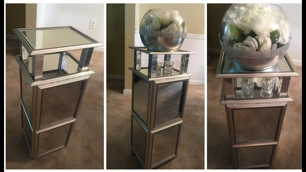 Dollar Tree DIY 💕Silver Mirrored End Table💕