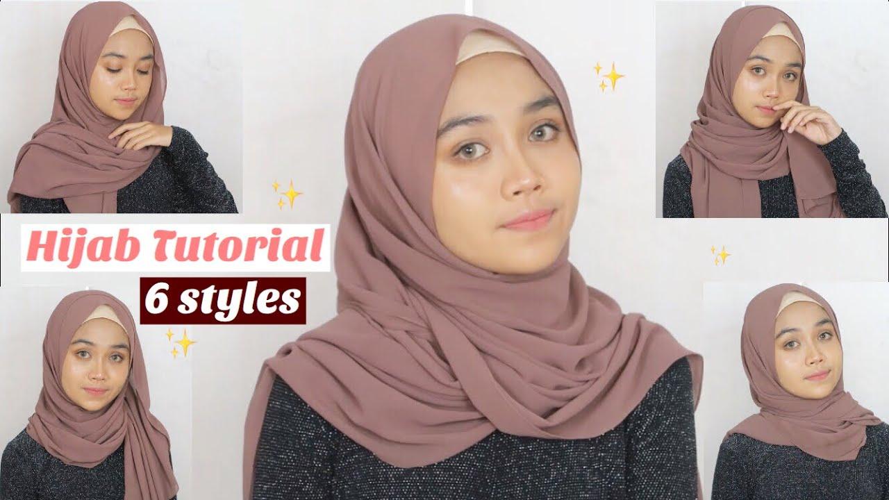 Simple Hijab Tutorial 6 Styles Pashmina Youtube