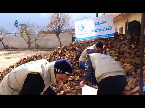 Damascus  Relief org  spreading the firewood over the residents of Qaboon neighborhood 9 1 2017