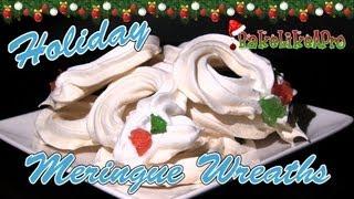 Holiday Meringue Wreath Cookies Recipe - Christmas recipe