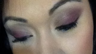 smokey burgandy eye look using the jenny rivera palette from bh cosmetics
