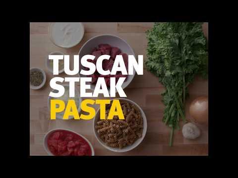 Choose Homemade Tuscan Steak Pasta