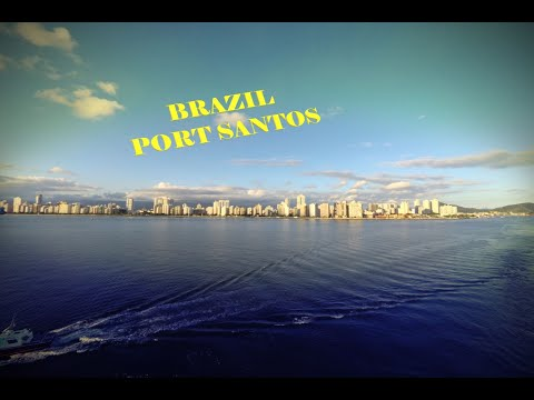 BRAZIL.PORT SANTOS. DEPARTURE FROM PORT SANTOS .