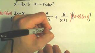 Partial Fraction Decomposition - Example 1