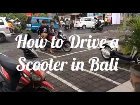 HOW TO DRIVE A SCOOTER IN BALI | INDONESIA