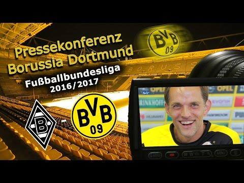 Borussia Mönchengladbach - Borussia Dortmund: Pk mit Thomas Tuchel