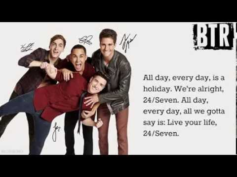 Big Time Rush-24 Seven [Lyrics]