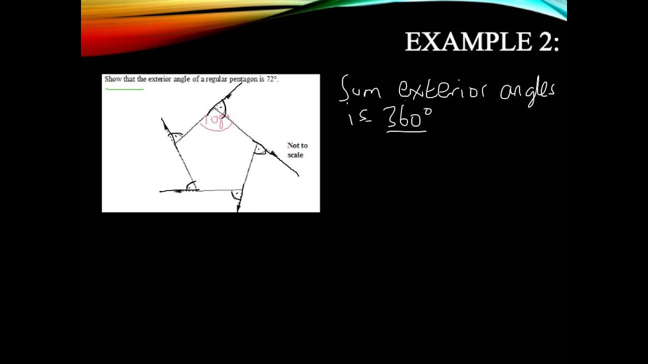 Calculating interior and exterior angles youtube - How to find exterior and interior angles ...