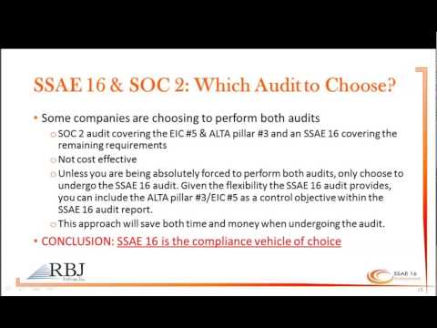SSAE 16 Audit-Title & Escrow Industry