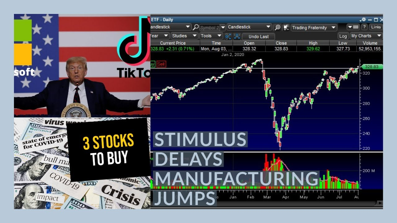 THE STOCK MARKET IS GETTING READY FOR THE END OF SUMMER - My Watchlist - 3 STOCKS TO BUY NOW