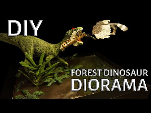 DIY Forest Dinosaur Diorama With Fun Facts!