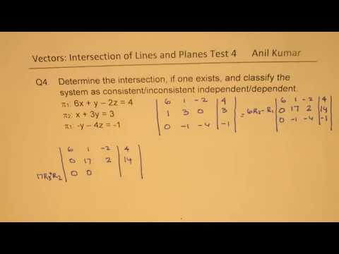 Vectors Intersection of Lines and Planes Test Part 2 MCV4U