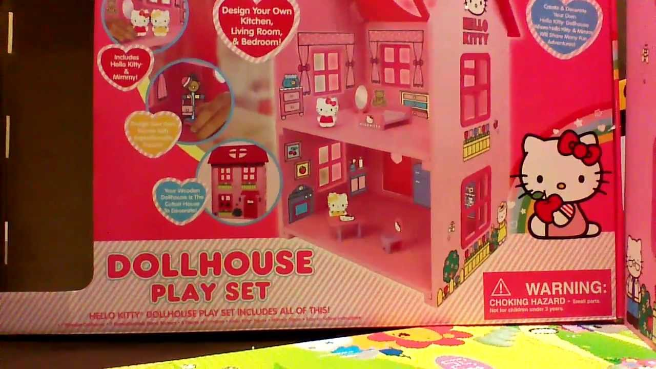 House design hello kitty - Hello Kitty Doll House Playset 1 Of 2 Brand New House And Moving In Youtube