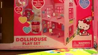 Hello Kitty Doll House Playset (1 Of 2) - Brand New House And Moving In
